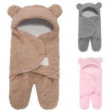 Пеленальный мешок для сна новорожденных хлопковый плюшевый спальный