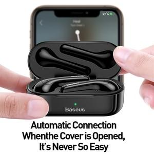 Image 5 - Baseus W07 TWS kablosuz Bluetooth kulaklık V5.0 kablosuz spor kulaklık ENC gürültü azaltmak konuşan su geçirmez kablosuz kulaklık