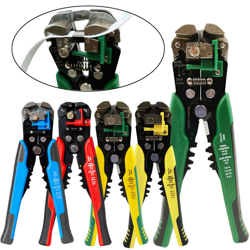 HS-D1 Crimper Kabel Cutter Automatic Wire Stripper Multifungsi Stripping Alat Crimping Tang Terminal 0.2-6.0mm2 Alat