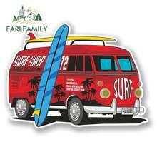 EARLFAMILY 13cm x Comic Camper Van Funny Car Stickers RV VAN 3D DIY Fine Decal Vinyl JDM Bumper Trunk Truck Graphics