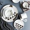 פנום פן גיאומטרי שיש כלי שולחן פירות סלט קערת קינוחים צלחת ספל מגש צלחת כוס קפה צלחת צלחות פורצלן