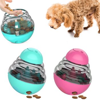 Pet Food Leaking Ball Interactive Dog Tumbler Toys Puppy Cat Food Container Pet Slow Feeder Dog Training Toy Pet Food Dispenser new dog snack catapult launcher dog cat treat launcher snack food feeder catapult pet interactive training toys