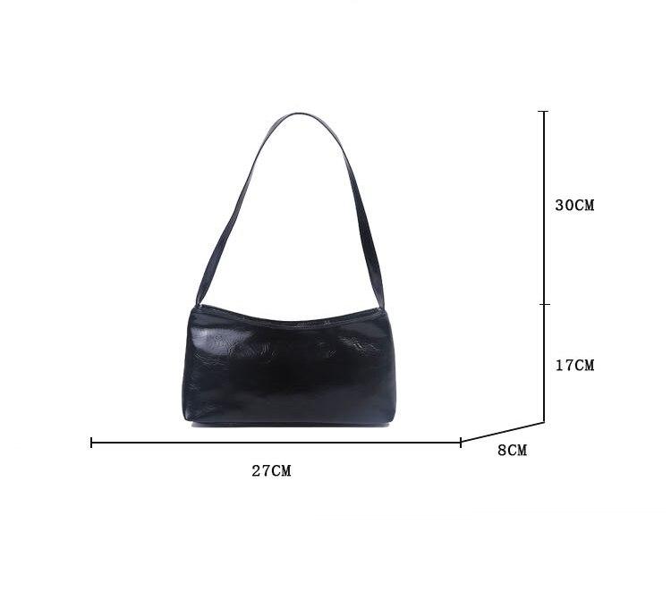 Bolsa feminina do vintage cor sólida couro