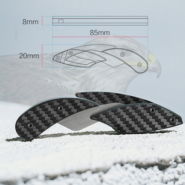 Carbon Fiber Mini Knife Portable Ultralight Knife Can Pass Security