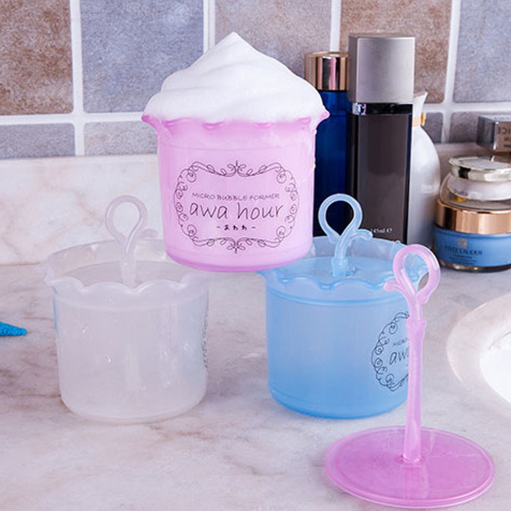 Foam Cup Fashion Unisex Beauty Facial Cleaning Foam Cup Bubbler Cleaning Bottle Face Care Tools Toiletry Kits Pink Color 3Colors