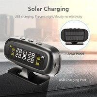 XIAOMI Original Solar TPMS Car Tire Pressure Alarm Monitor System Display Smart Temperature Warning Fuel Save + 4 Sensors tpms