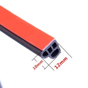 Image 4 - Joints détanchéité en caoutchouc pour portières de voiture, type L, Double couche, adhésifs, isolation phonique, bande résistante aux intempéries, accessoires dintérieur automobile