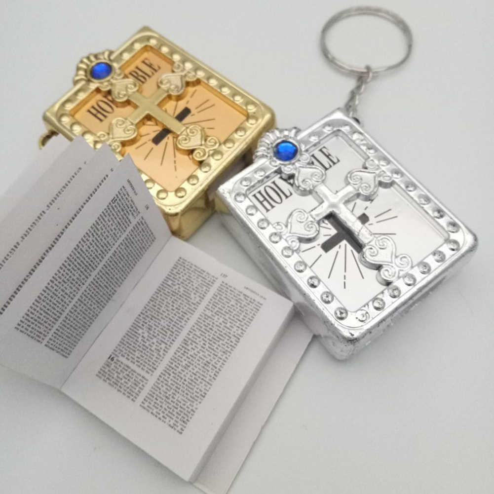 Minillavero de la Biblia cristiana religiosa Jesús Cruz llavero de las mujeres oración Dios bendice regalo Souvenirs llavero
