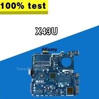 X43U материнская плата PBL50 LA-7321P E450 CPU для ASUS K43U X43U Материнская плата ноутбука X43U материнская плата X43U тест материнской платы 100% ОК