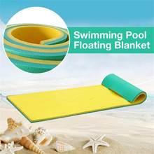 Couverture flottante pour piscine, lit-balançoire à eau, doux et confortable, tapis flottant, coussin de couchage pliable, dernière version
