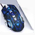 Игровая мышь 3200 dpi  регулируемая Проводная оптическая светодиодный мышь для компьютера  USB кабель  бесшумная мышь для ноутбука