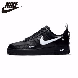 Zapatillas Nike Air Force 1 originales de cuero para monopatín para hombre, cómodas zapatillas deportivas para exteriores # AJ7747