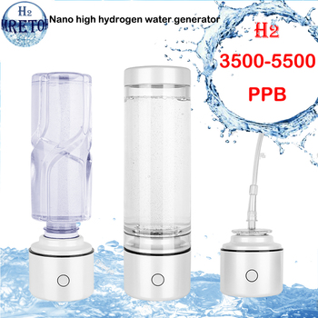 Healthy Nano High Concentration Hydrogen Rich Water Bottle SPE&PEM Pure H2 Generator ORP Lonizer Alkaline Electrolysis Cup high accuracy orp
