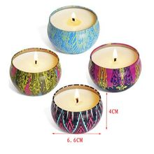 8pcs Fragrance Aromatherapy Scented Candle Natural Soy Wax Travel Tin Home Decor