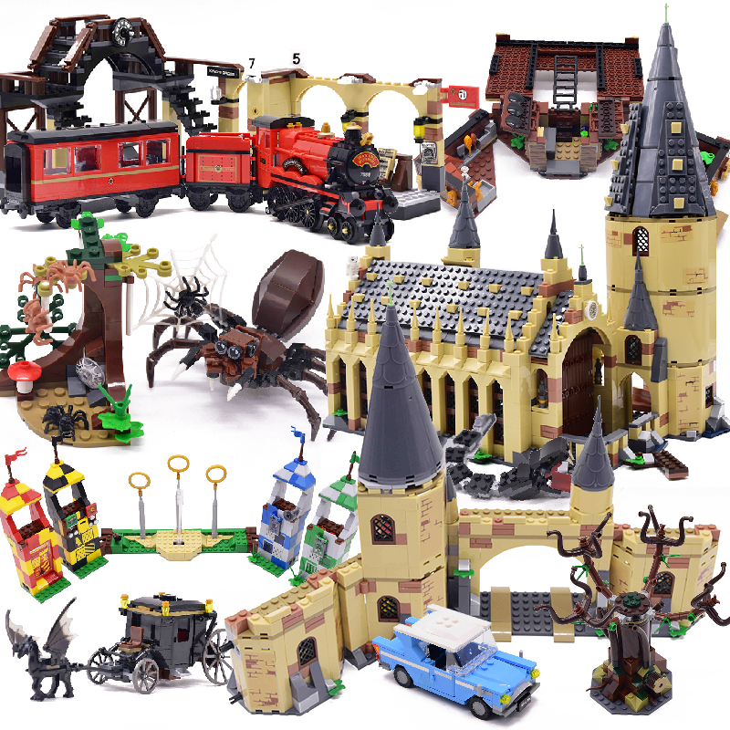 Harri Movie 2 Castle Express Train Building Blocks House Bricks City Creator Action 75951 Toys Figure For Children