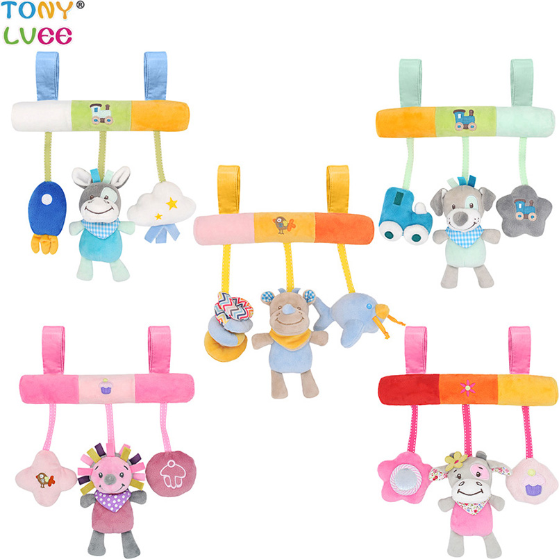 Comfort Soft 0-12 Months Baby Toys For Baby Rattles Stroller Teether Educational Music Bed Bell  Plush Toys For Infant Baby