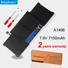 KingSener New Laptop Battery A1496 For Apple MacBook Air 13 A1466 2013/2014/2015 A1496 MD760LL/A MD761CH/A 7.6V 7150mAh laptop batteries for apple a1245 macbook air 13 a1237 a1304 13 mc233 a 13 mc234 a air 13 mb003j a 7 2v 6 cell