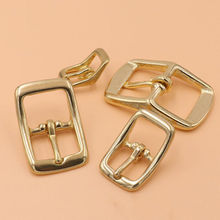 1 x Brass Belt Buckle tri glide single pin Middle Center Bar for leather craft bag strap horse bridle halter harness