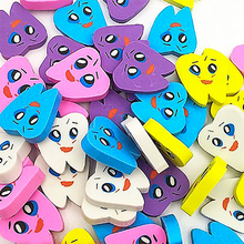 50pcs/bag Teeth Whitening Molar Shaped Tooth Rubber Erasers Dentist Dental Clinic School Great Gift For Kids Free Shipping