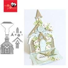 Рождественский замок Трафаретный вырубной штамп трафарет для скрапбукинга