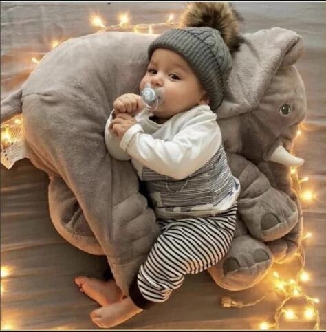 40 80cm large plush elephant pillow stuffed plush toy baby comfortable pillow for baby to snuggle soft sleeping back cushion
