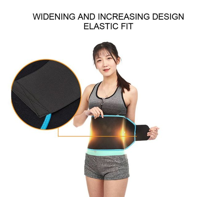 Waist Trainer Hot Sweat Belt Body Shaper Adjustable Warming Waist Protect Weight Fitness Belt