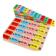 Montessori in math toys wooden for kids Domino educaional cildrean