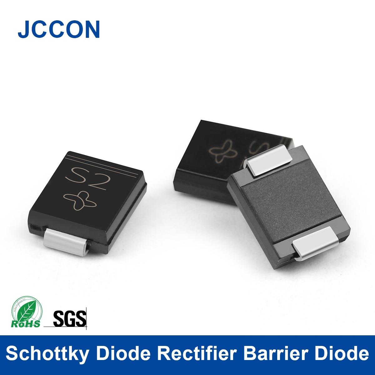 Диодный выпрямитель Schottky, Барьерный Диод SMA SMB SMC SS12 SS14 SS16 SS18 SS24 SS26 SS32 SS34 SS54 SS56, 20 шт.