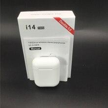 Оригинальные i14 TWS беспроводные наушники Bluetooth гарнитура невидимые наушники для смартфона pk i11 i12 i7s i20 i60 i30