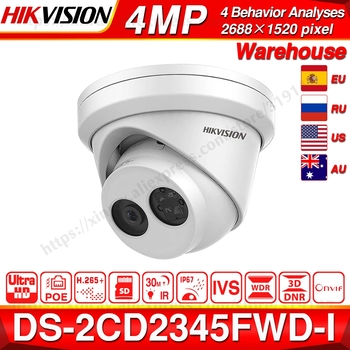 HIKVISION H.265 Camera DS-2CD2345FWD-I 4MP IR Fixed Turret Network Camera MINI Dome IP Camera SD Card Slot Face Detect