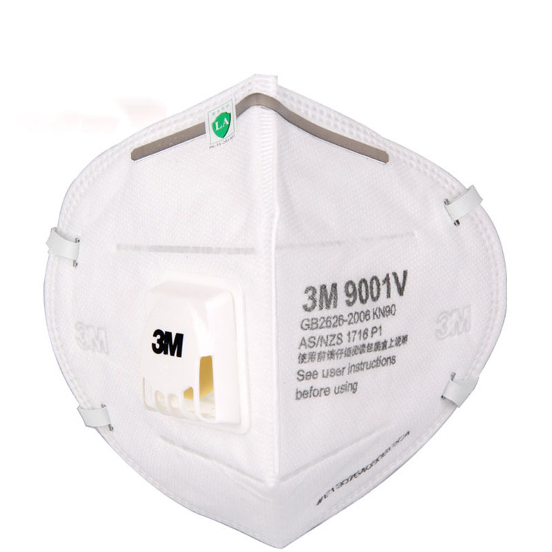 1PC 3M 9001V Dust Mask PM 2.5 Anti-fog Particulate Respirator Anti Influenza Breathing Valve Adult KN90 Safety Masks