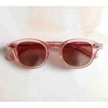 Top quality Johnny Depp Sun glasses Woman Acetate glasses Frame Pink lens