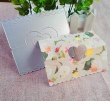 לב סוכריות תיק כותרת מתכת חיתוך למות סטנסיל תבנית עבור DIY הבלטות נייר אלבום תמונות כרטיס ביצוע למות לחתוך רעיונות