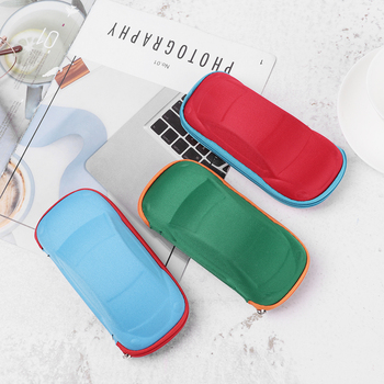 1 piece of portable hard frame car-shaped glasses case children glasses case sunglasses case glasses storage box image