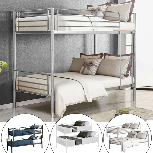 Twin Over Twin Loft Bunkbeds w/Metal Stairs 1