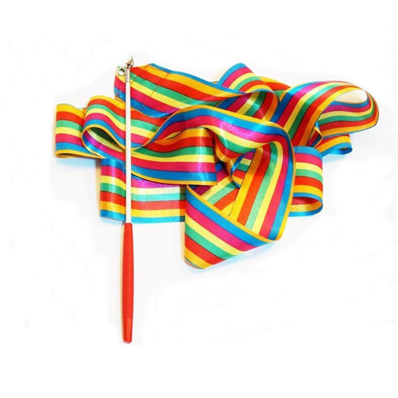 1 Children's Professional Gymnastics Ribbon Toys  Colorful Color Design Boy Girl Body Art Training 4M Length Ribbon Dance Props