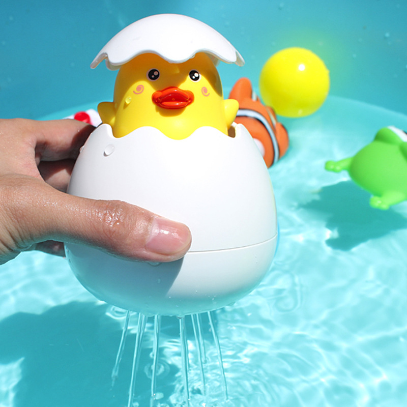 Baby Swimming Plaything Toy Kids Shower Partner Cartoon Duck Penguin Egg Spray Water Toys Baby Funny Bathing Sprinkling Toys