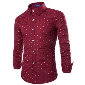 Image 3 - Zogaa 2019 남성 캐주얼 긴팔 작은 화살표 셔츠 비즈니스 드레스 셔츠 슬림 피트 남성 사회 브랜드 남성 소프트 의류