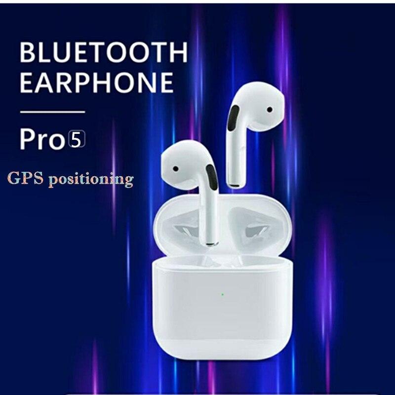 Mini Pro 5 Bluetooth наушники-вкладыши TWS с Беспроводной наушники HiFi музыкальные наушники спортивные игровая гарнитура с GPS и переименовать PRO 4