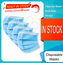 200-10PCS One-use Mask Dustproof Anti-fog Breathable 3-Layer Mouth Face Masks For Face Shield Mascarillas Desechab Facemask Mask