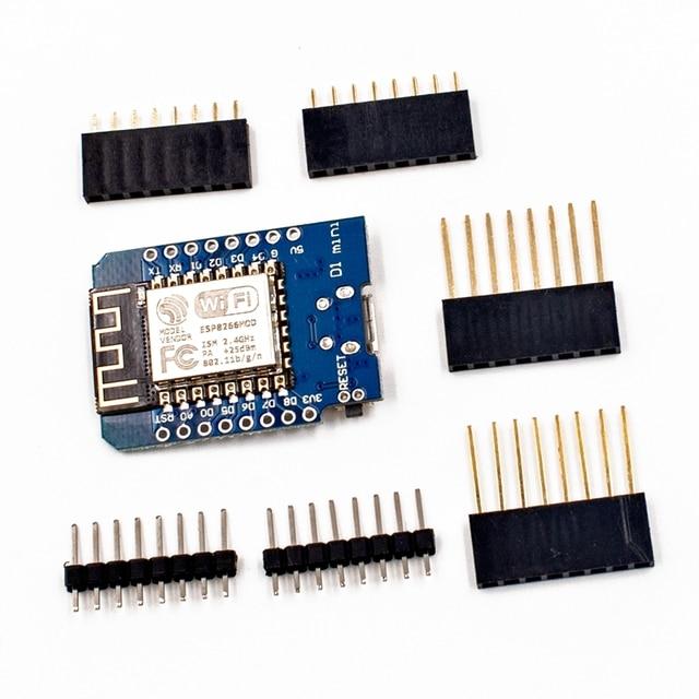 D1 Mini ESP8266 ESP 12 ESP 12F CH340G CH340 V2 USB WeMos WIFI Development Board D1 Mini NodeMCU Lua IOT Board 3.3V With Pins