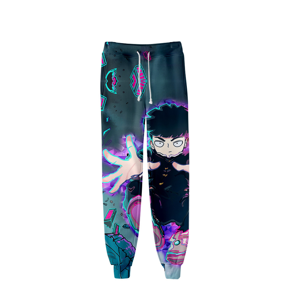 2019 Mob Psycho 100 Pants Men Hip Hop Pants Trousers Kpop Fashion Casual High Quality Casual Warm Slim Mob Psycho 100 Pants