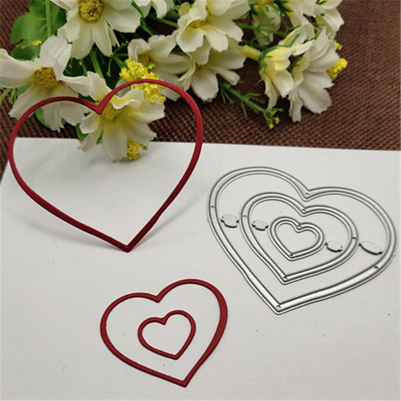 Heart-shaped Ring Metal Cutting Dies Stencils For DIY Scrapbooking Decorative Embossing Handcraft Die Cutting Template