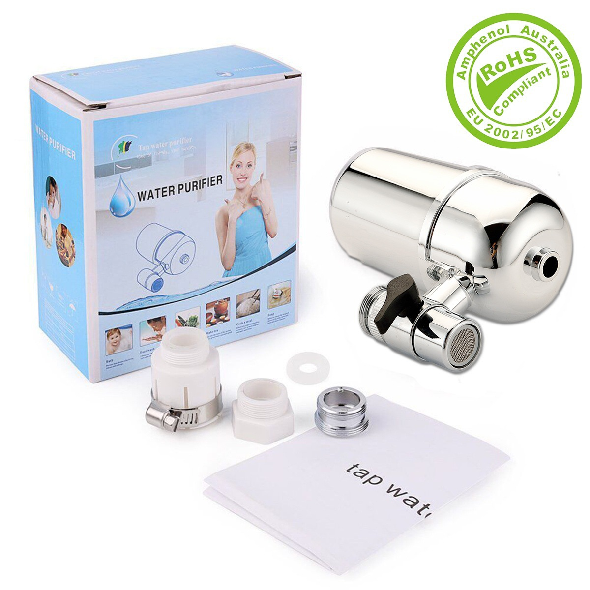 Tap Water Purifier Kitchen Faucet Washable Ceramic Percolator Health Rust Bacteria Removal Replacement Filter Water Softener