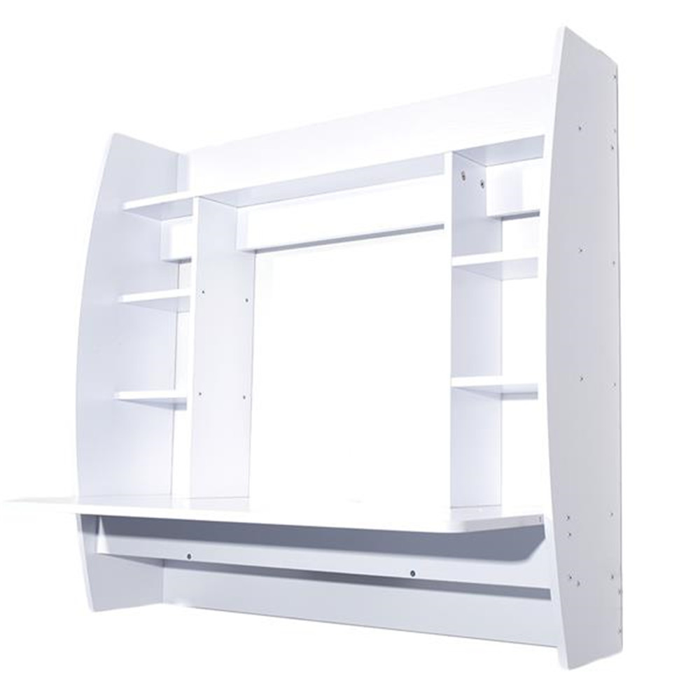 Exquisite Room-saving Wall Built-up Computer Desk White