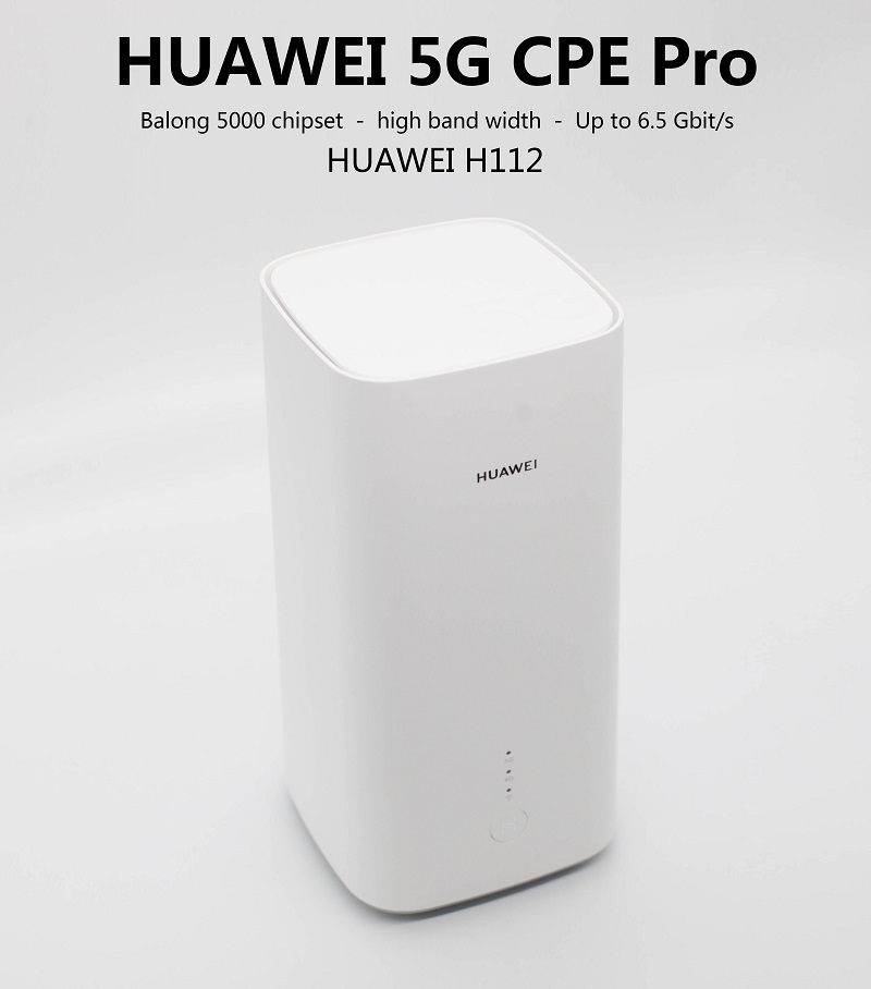 Huawei 5G CPE Pro(H112-370)5G NSA+SA(n78),4G LTE(B1/3/5/7/8/18/19/20/28/32/34/38/39/40/41/42/43) CPE Wireless Router