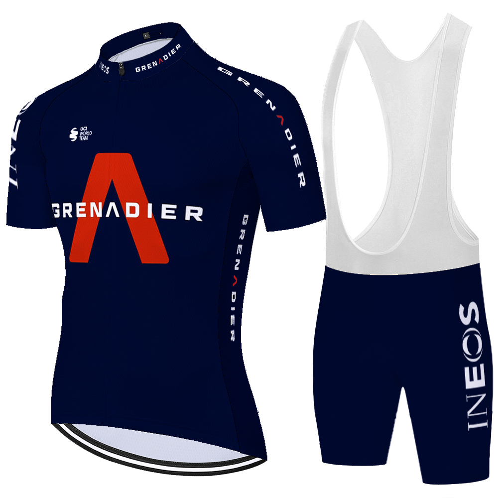 2020 grenadier Pro Team INEOS koszulka kolarska mężczyźni ropa bicicleta hombre letnia koszulka rowerowa męskie kolarstwo zestaw koszulek