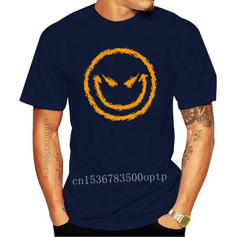 Camouflage Smiley Face Camo Happy Face Funny Mens T-shirt