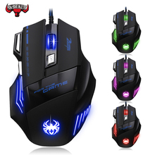 7200 точек/дюйм Проводная игровая мышь 7 кнопок светодиодная оптическая USB компьютерная мышь геймер мышь игровая мышь для ПК ноутбука