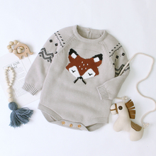 6-12M Kid Boys And Girls Clothes Autumn Winter Warm Pullover Top Long Sleeve Plain Sweater Fashion Knitted Gentleman Outfit